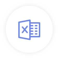 Icon Excel Blue