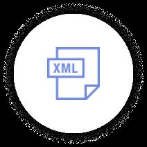 Icon XML Blue