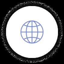 Icon Globe Blue 03