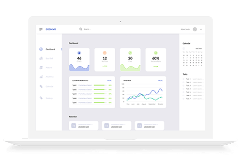 Cognivo investment management Centralized Reporting Dashboard